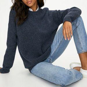 Aritzia Community Cashmere Blend Blue Sweater